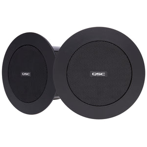 "2x QSC AD-C.SAT-BK 2.75"" Satellite Ceiling Speaker"