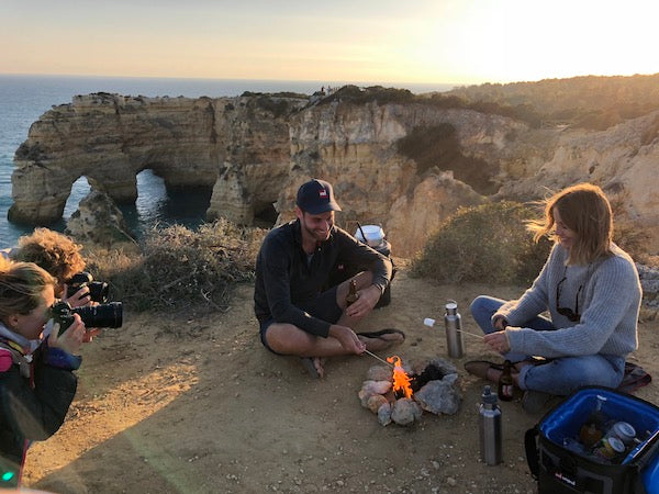 Cliff top BBQ at Sunset