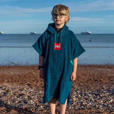 Luxury Kid's Poncho Towel - Navy