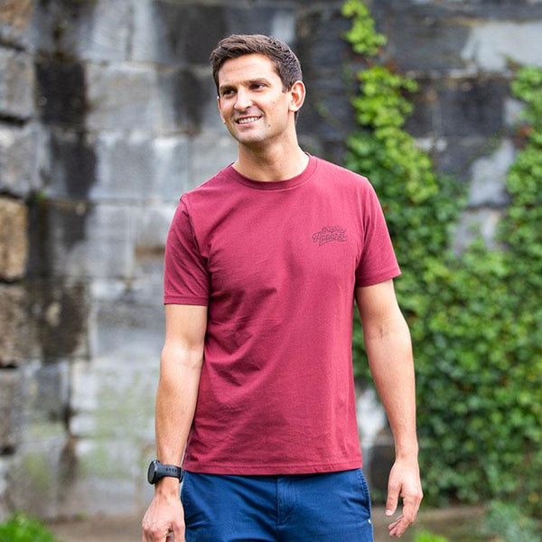 Red Original Adventure Mens T-Shirt - Red Wine