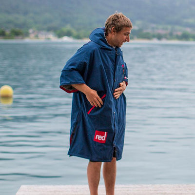 Men's Short-Sleeve Pro Change Robe - Navy