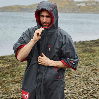 Man wearing and zipping up Red Original Men's Pro Change Jacket