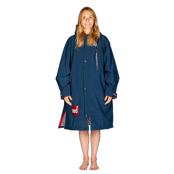 Women's Long Sleeve Pro Change Robe - Navy with Grey Lining