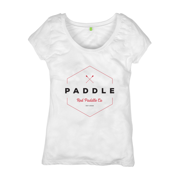 flat studio image of Red Original Women's Paddle On t-shirt