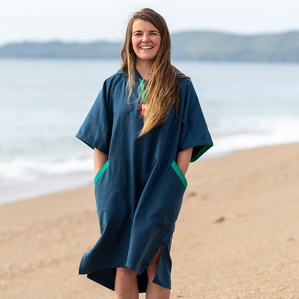 Women's Quick Dry Microfibre Changing Robe - Navy