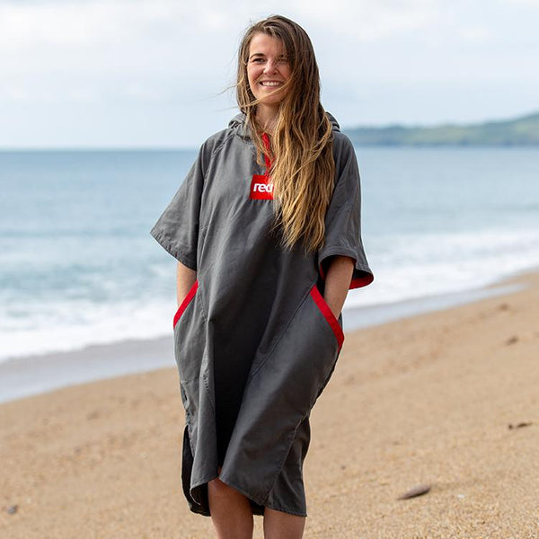Women's Quick Dry Microfibre Changing Robe - Grey