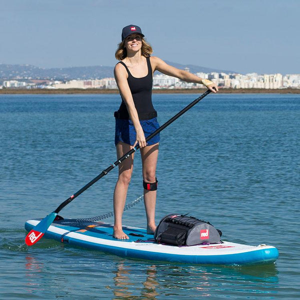 Red Original Purple Cargo Bungee on a sup being paddled