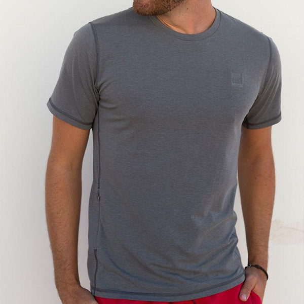 Man modelling the Red Original Mens Performance T Shirt