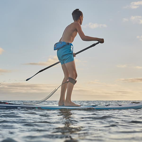 Man on a paddle board in the sea