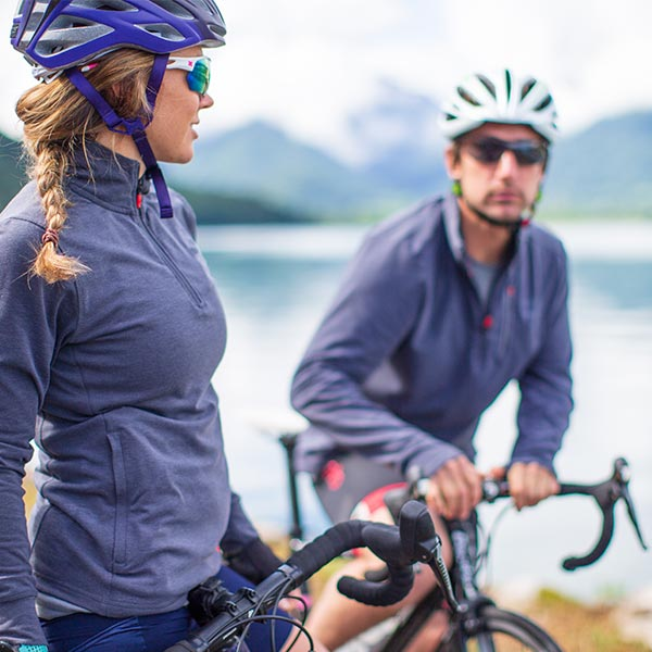 Man and Woman Red Original performance top layers cycling