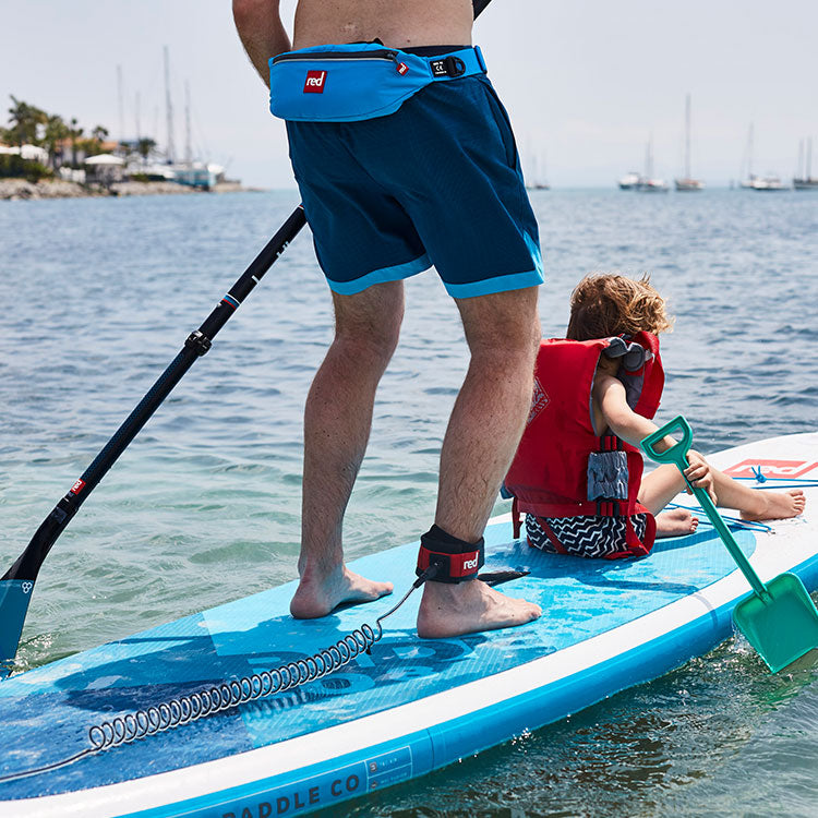 Man and Child on a paddle board