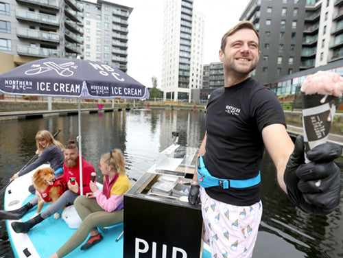 Stand up paddle ice cream parlour