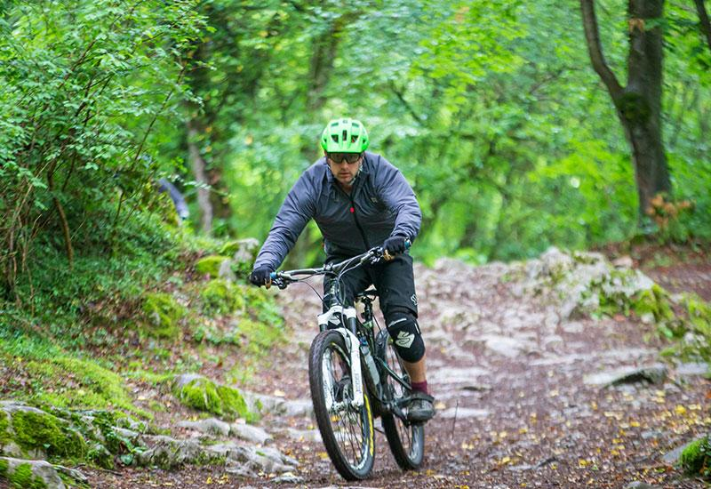 Male Cyclist Wearing Waterproof Active Jacket For Men
