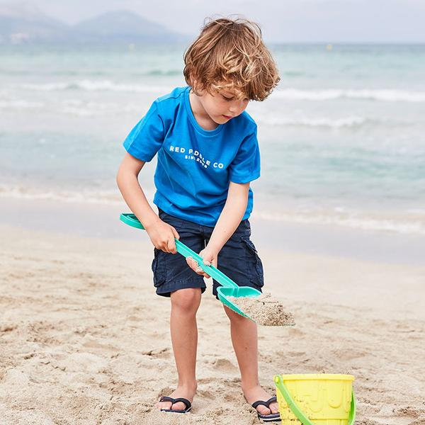 A Child Wearing The Red Paddle Co Since 2008 Kids T-Shirt In Blue