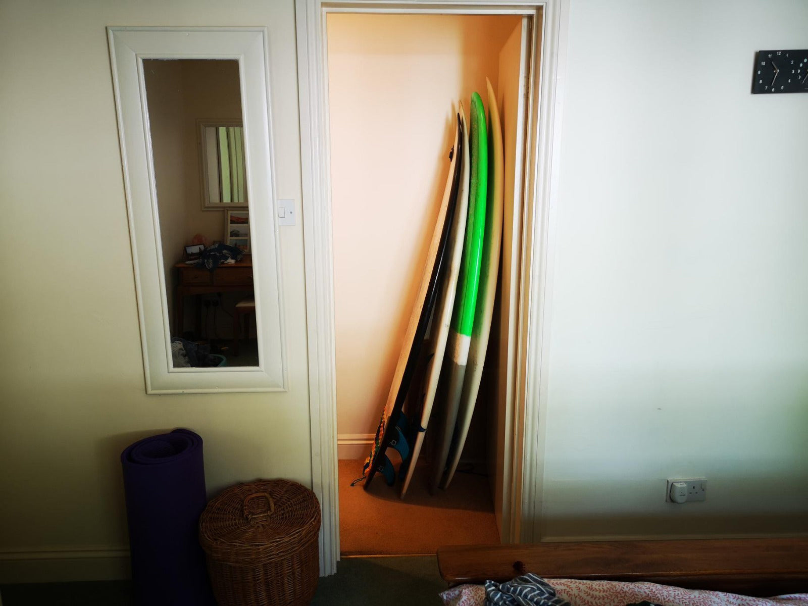 Surfboards at home looking sad