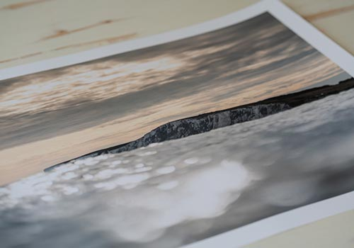 Jay Haysey print photography - chalk cliffs