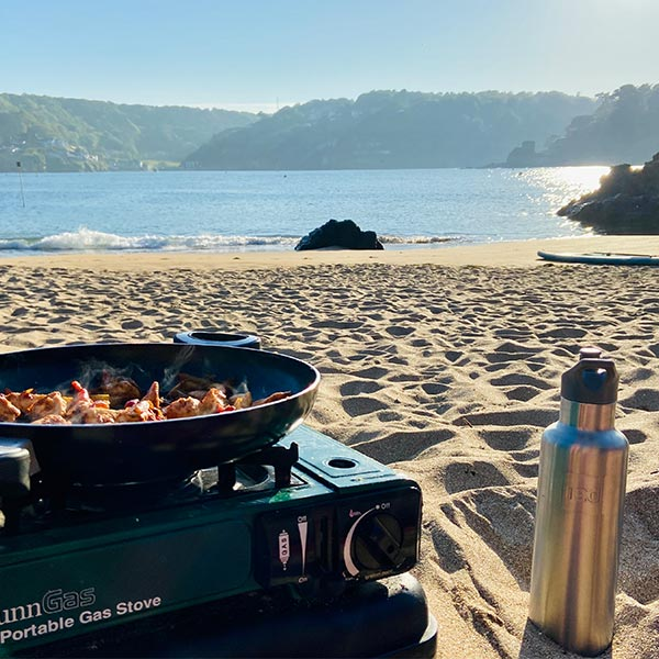 Outdoor Cooking Set Up on A beach