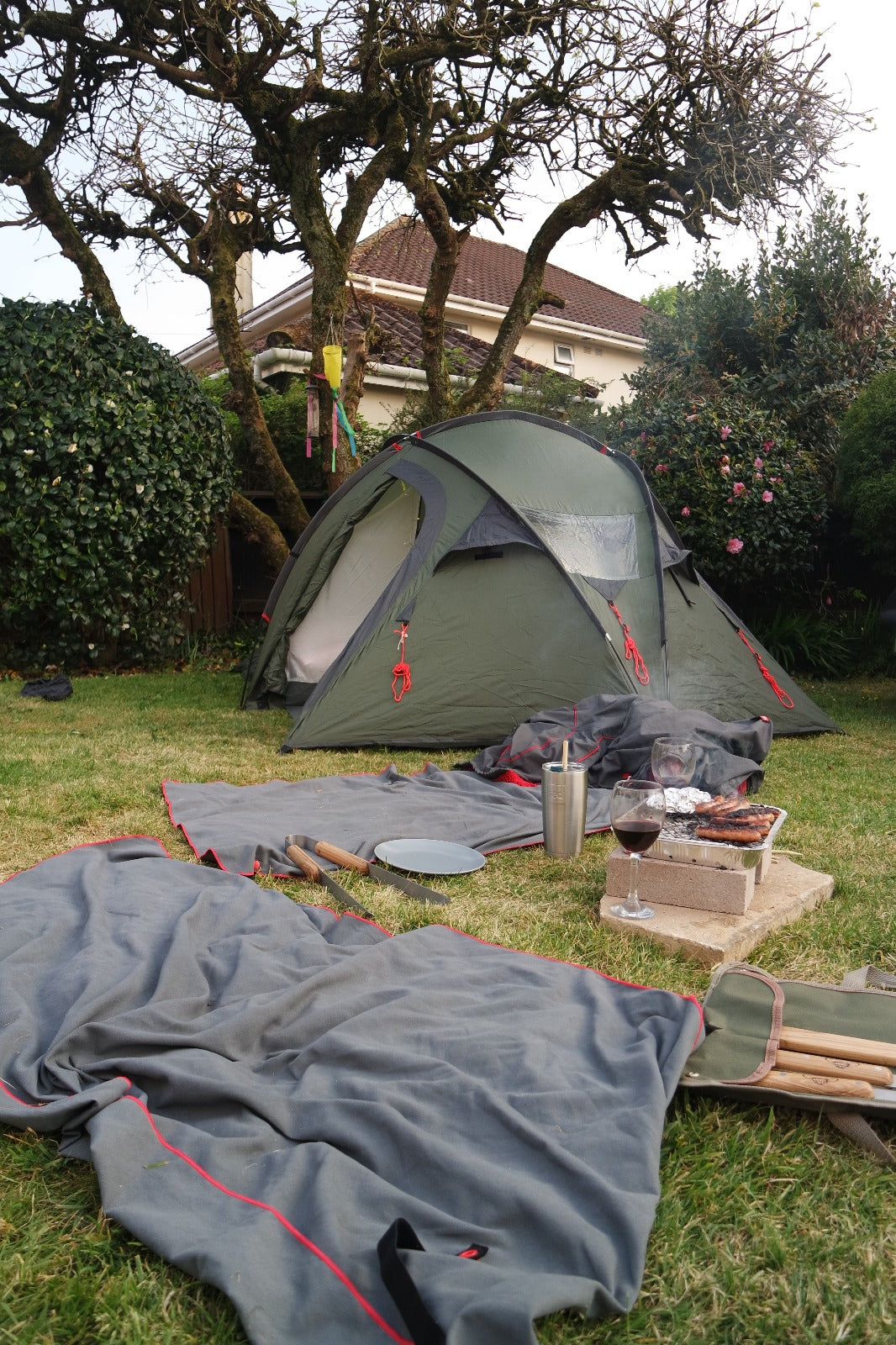 Camp site in the garden