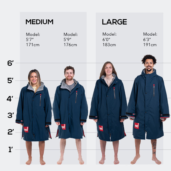 Pro Change Long Sleeve Navy Size Guide