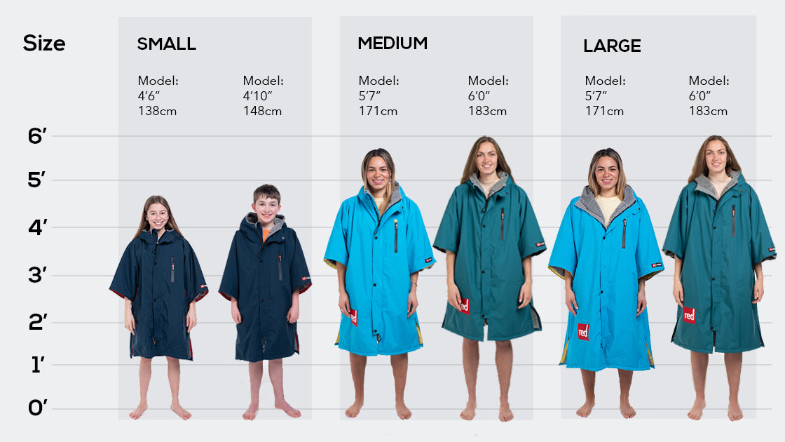 Womens Pro Change Size Guide for Short Sleeves