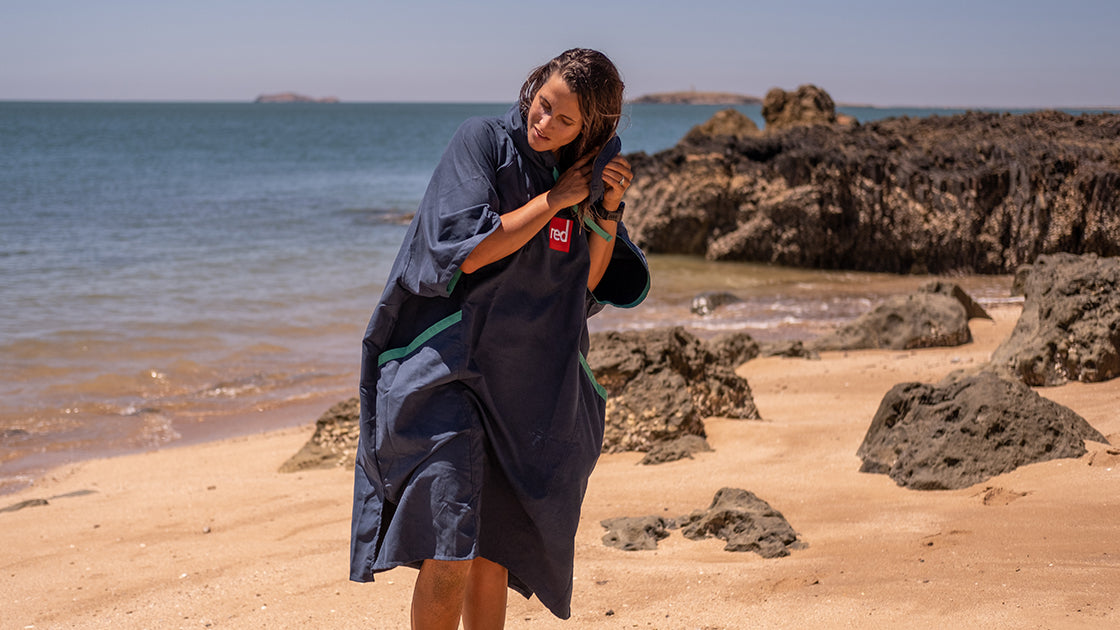Womens Quick Dry Robe in Navy