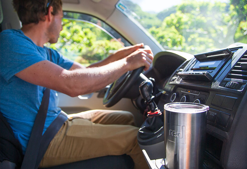 Travel Cup In A Car Drink Holder