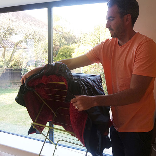 Hanging Pro Change Robe On A Clothes horse
