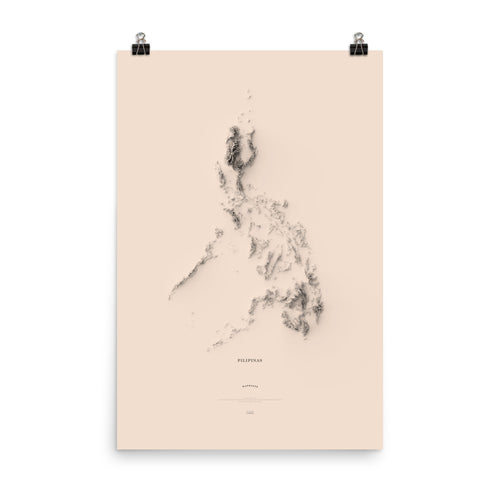 A Minimalist Map of Pilipinas (poster)