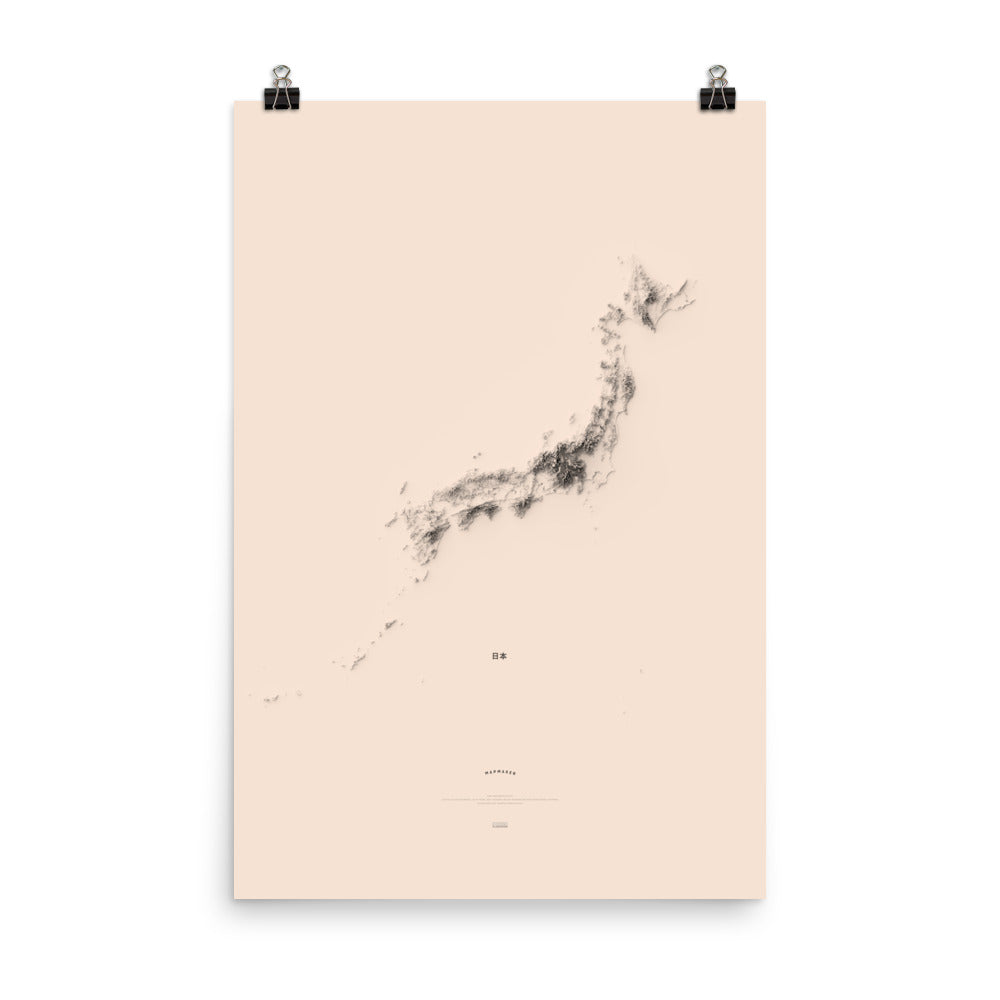 A Minimalist Map of Japan (poster)