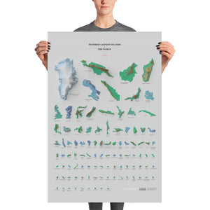 Hundred Largest Islands of the World (poster)