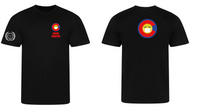 Covid Fighter T shirt - Black - C logo Serve On