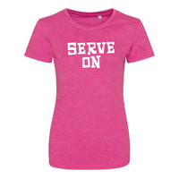 Ladies Heather T Shirt (Flint Stone logo)