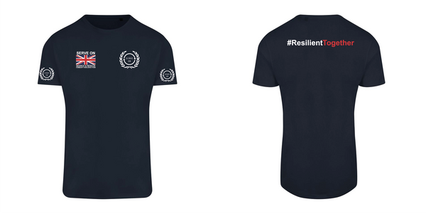 Unisex T Shirt - Resilient Together + arm logos