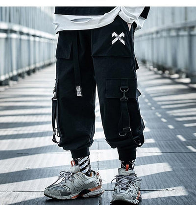 DARK INDUSTRIAL RIBBON JOGGERS