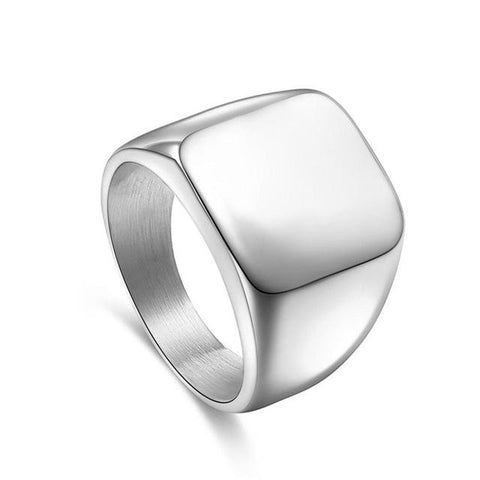 TITANIUM STEEL SIGNET RING