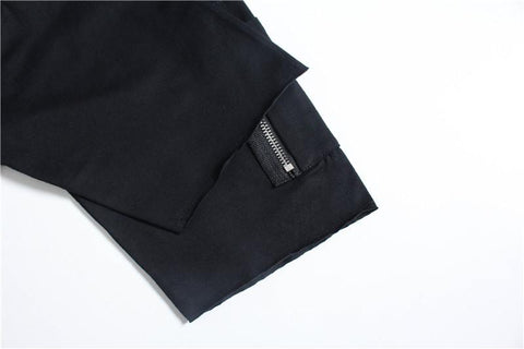 ZIPPER SLEEVE T-SHIRT