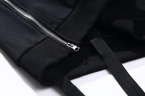 ZIP POCKET X STRAP SWEATER