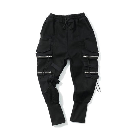 MULTI-POCKET ZIPPER JOGGERS