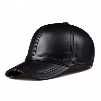 SLICK GENUINE LEATHER CAP