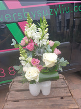 Seasonal Florist Choice Flower Vase Arrangement