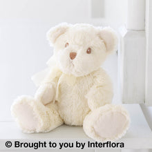 White Teddy Bear for Glasgow city centre same day flower delivery
