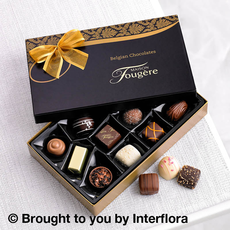 Complement your Glasgow flower delivery with Belgian Chocolates