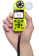 Kestrel 5000AG Livestock Environmental Meter in hand