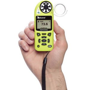 Kestrel 5200 Professional Weather Meter in hand