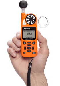 Kestrel 5400FW Fire Weather Meter Pro WBGT in hand