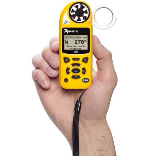 Kestrel 5500 Weather Meter in hand