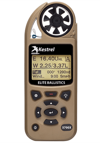 Kestrel 5700X Weather Meter with Applied Ballistics and LiNK