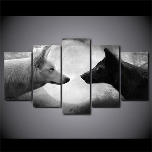 Canvas Wall Art - Wolf Reflection