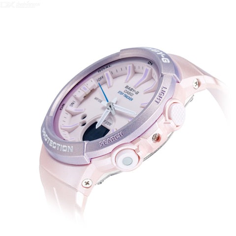Casio Baby-G Analogue/Digital Pink Step Tracker Watch BGS100SC-4A