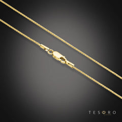 9ct Yellow Gold 0.80mm Round Wheat Chain